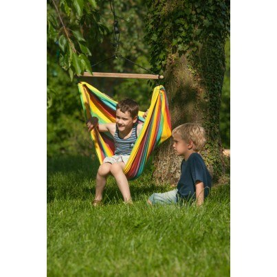 La Siesta Iri Hammock Chair for Children - Rainbow  by La Siesta