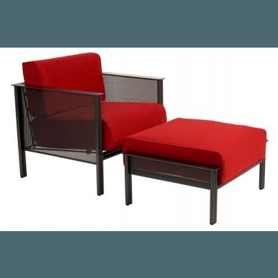 Woodard Jax Wrought Iron Stationary Lounge Chair  by Woodard