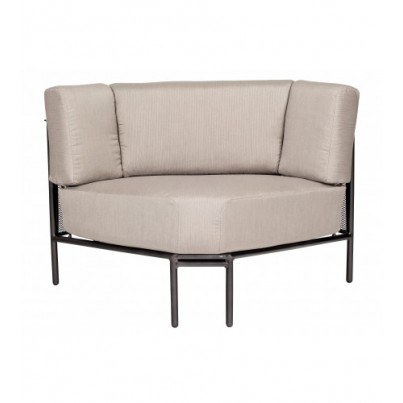 Woodard Jax Wrought Iron Corner Sectional  by Woodard