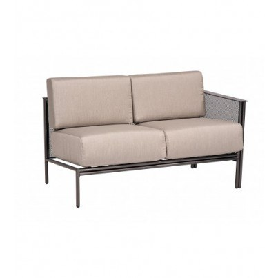 Woodard Jax Wrought Iron Right Arm Facing Sectional Loveseat  by Woodard