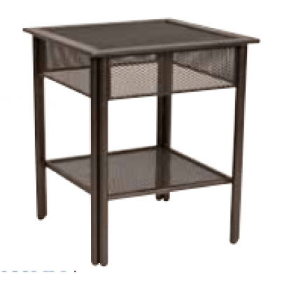 Woodard Jax Wrought Iron End Table - Micro Mesh Top  by Woodard