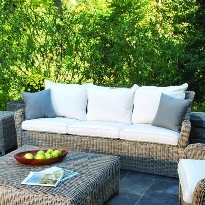 Kingsley Bate Sag Harbor Wicker Deep Seating Sofa  by Kingsley Bate