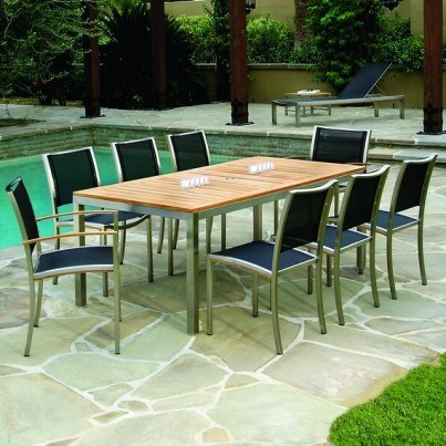 Kingsley-Bate-Tiburon-Stainless-Steel-Teak-Trim-76-in-table