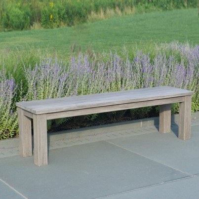 "Kingsley Bate Tuscany Teak Rustic Backless Bench 60""  by Kingsley Bate"