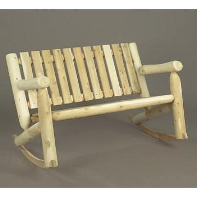 Rustic Natural Cedar Double Cedar Rocker  by Rustic Natural Cedar