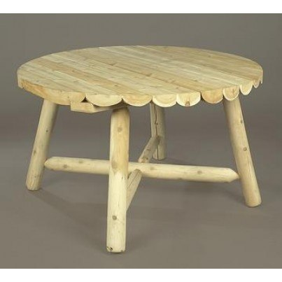 Rustic Natural Cedar Round Dining Table  by Rustic Natural Cedar