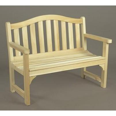 Rustic Natural Cedar Camel Back Settee  by Rustic Natural Cedar