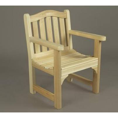 Rustic Natural Cedar Camel Back Arm Chair  by Rustic Natural Cedar
