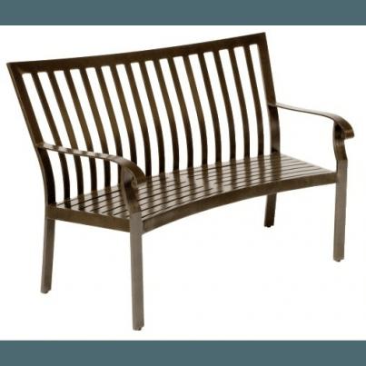 Woodard Cortland Aluminum Crescent Bench  by Woodard