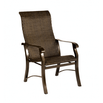 Exceptionnel Woodard Cortland Aluminum High Back Dining Arm Chair