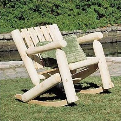 Rustic Natural Cedar Low Back Cedar Rocker  by Rustic Natural Cedar