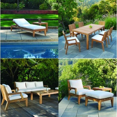 Kingsley Bate Mendocino Teak Dining and Seating Collection - Build Your Own Ensemble  by Kingsley Bate