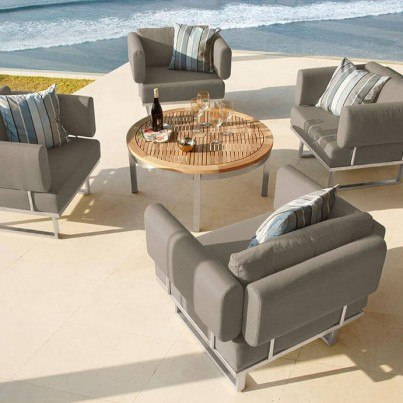 Barlow Tyrie Mercury and Equinox 5pc Deep Seating Ensemble  by Barlow Tyrie