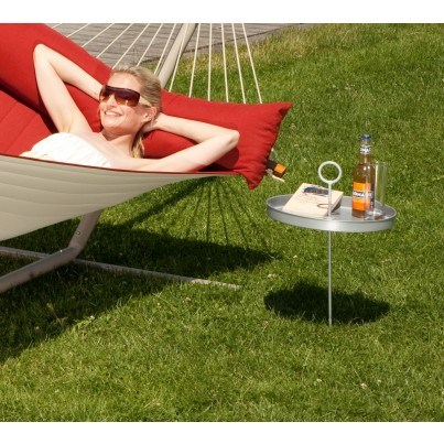 La Siesta Mesero Hammock Table - Silver  by La Siesta