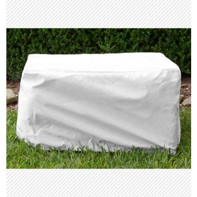 Ottoman/Small Table Cover - White  by Koveroos