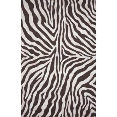 Trans-Ocean Visions I Zebra Black Rug 5'x8'  by TransOcean