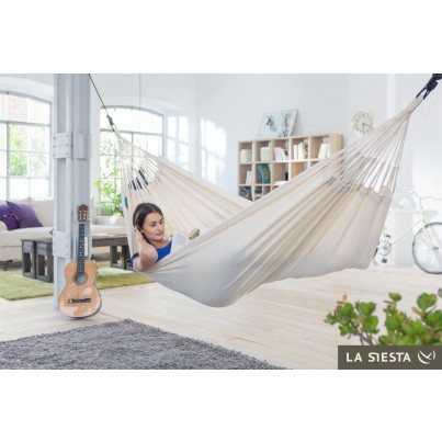 La Siesta Modesta Organic Cotton Single Classic Hammock - Latte  by La Siesta