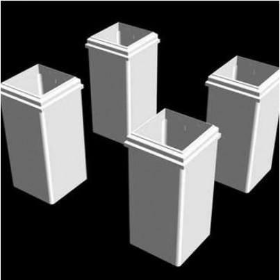 Pergola Short Decorative White Vinyl Base Molding  - 4 Pack  by Frontera Furniture Company