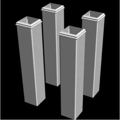 Pergola Tall Decorative White Vinyl Base Molding - 4 Pack  by Frontera Furniture Company