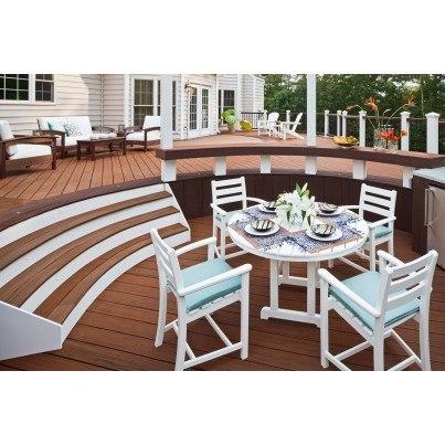 """Trex® Outdoor Furniture™ Monterey Bay Round 48"""" Dining Table  by Trex Outdoor Furniture"""