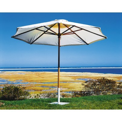 Kingsley Bate Octagonal Market Teak Umbrella 10'  by Kingsley Bate