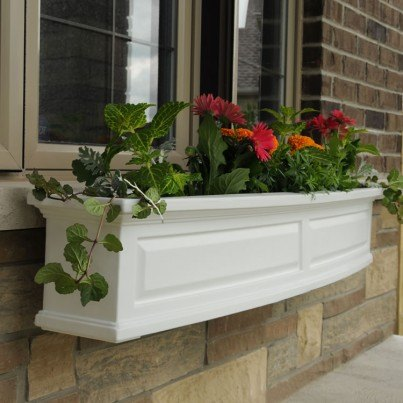 Mayne Nantucket 5FT Window Box White, Black, Clay, Red, Green  by Mayne