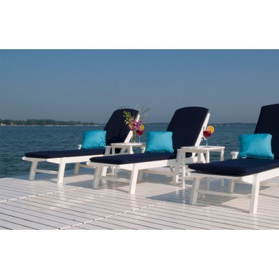 POLYWOOD® Nautical Wheeled Chaise Lounge w/ Arms  by Polywood