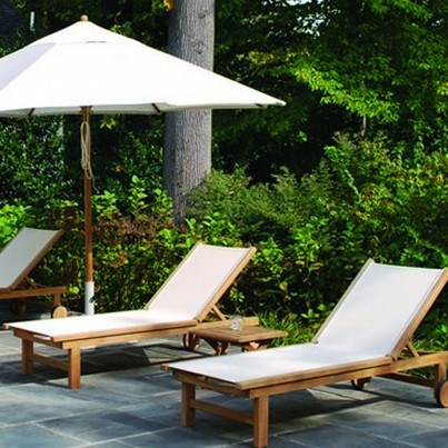 Kingsley Bate St. Tropez Teak 8 Piece Chaise Lounge Ensemble  by Kingsley Bate