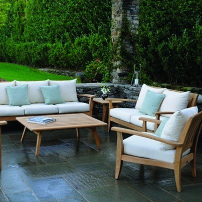 Kingsley Bate Ipanema Teak 7 Piece Deep Seating Ensemble  by Kingsley Bate