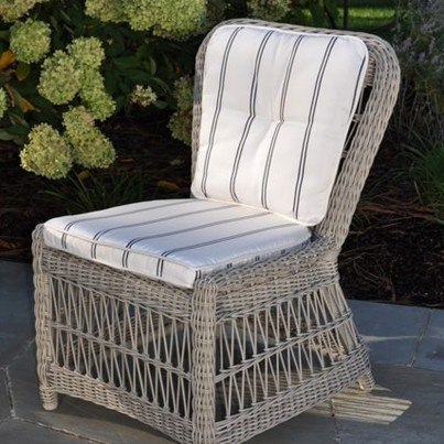 Kingsley Bate Southampton Wicker Dining Side Chair  by Kingsley Bate