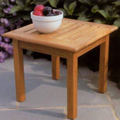"Kingsley Bate Classic Teak 20"" Square Side Table   by Kingsley Bate"