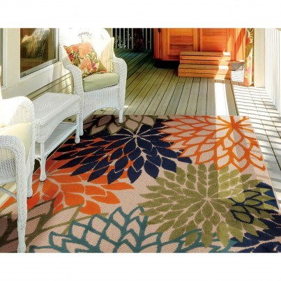 Nourison Indoor/Outdoor Aloha ALH05 Rug - Multicolor 3x5  by Nourison