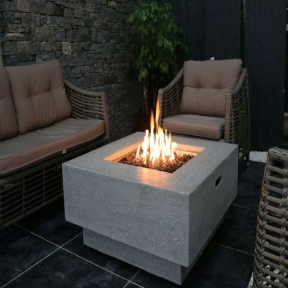 Manhattan Fire Pit Table  by Frontera Furniture Company