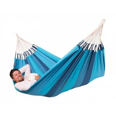 La Siesta Orquidea Cotton Single Classic Hammock - Lagoon  by La Siesta