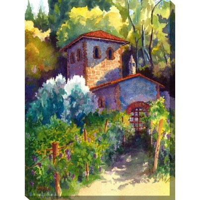 West of the Wind Outdoor Canvas Wall Art - Vitner's Cottage  by West of the Wind