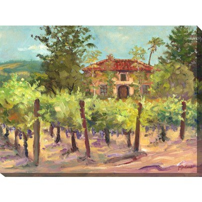 West of the Wind Outdoor Canvas Wall Art - Villa and Vines  by West of the Wind