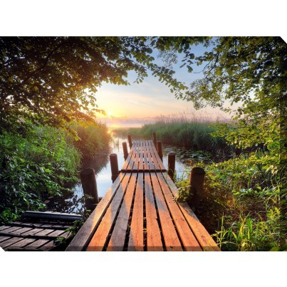 West of the Wind Outdoor Canvas Wall Art - Old Dock  by West of the Wind