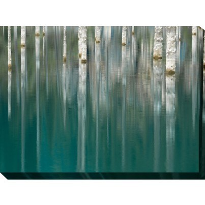 West of the Wind Outdoor Canvas Wall Art - Silver Lake  by West of the Wind