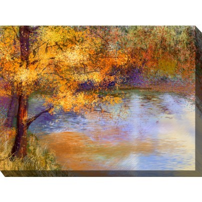 West of the Wind Outdoor Canvas Wall Art - Touch of Gold  by West of the Wind