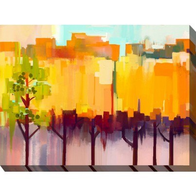 West of the Wind Outdoor Canvas Wall Art - Urban Refuge  by West of the Wind