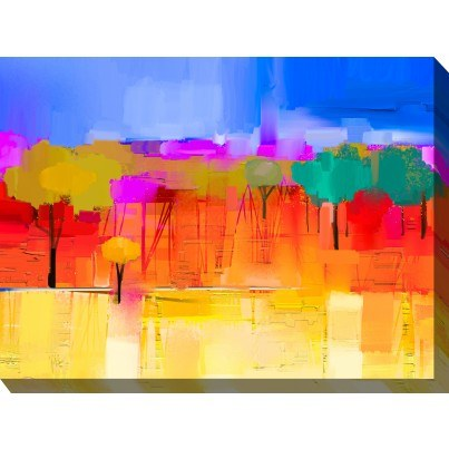 West of the Wind Outdoor Canvas Wall Art - City Park  by West of the Wind