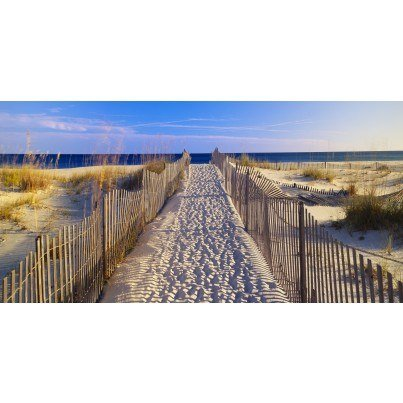 West of the Wind Outdoor Canvas Wall Art - Beach Walk  by West of the Wind
