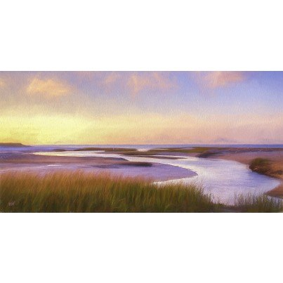 West of the Wind Outdoor Canvas Wall Art - Breaking Dawn  by West of the Wind