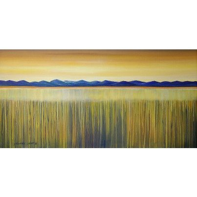 West of the Wind Outdoor Canvas Wall Art - Golden Reeds  by West of the Wind
