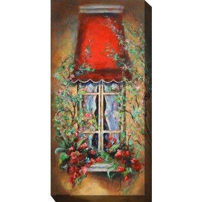 West of the Wind Outdoor Canvas Wall Art - Red Canopy  by West of the Wind