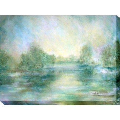 West of the Wind Outdoor Canvas Wall Art - Lake View  by West of the Wind