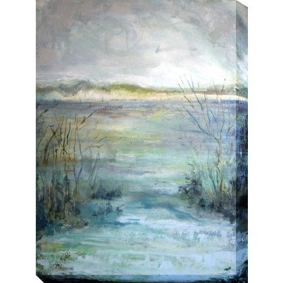 West of the Wind Outdoor Canvas Wall Art - River View  by West of the Wind