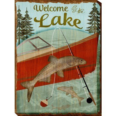 West of the Wind Outdoor Canvas Wall Art - Welcome Lake  by West of the Wind