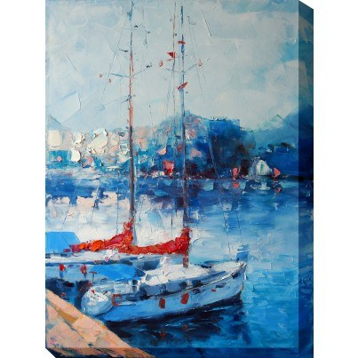 West of the Wind Outdoor Canvas Wall Art - Yacht Club  by West of the Wind