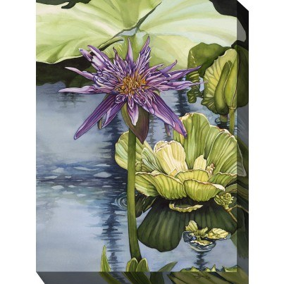 West of the Wind Outdoor Canvas Wall Art - Lily  by West of the Wind